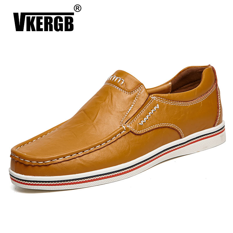 vkergb Hand Sewing Genuine Leather Boat Shoes Casual Summer