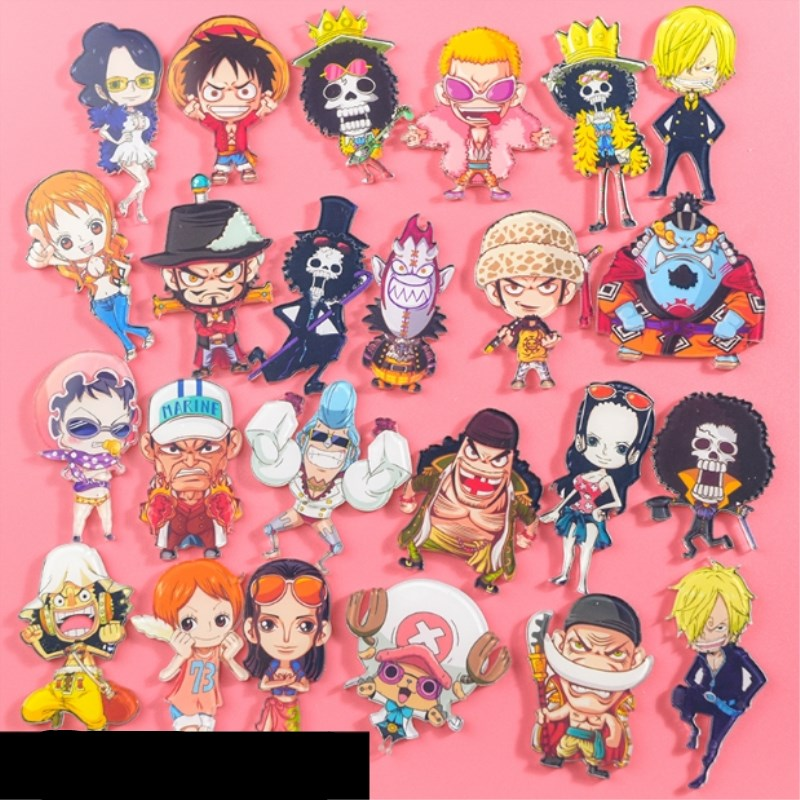 1PC Anime One Piece Luffy Acrylic Badges Pins And Brooches For Women Men T-shirt Jewelry Lapel Pin Badge Gifts