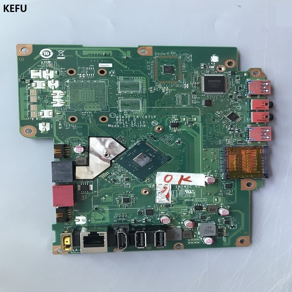 KEFU motherboard AIA30 LA C671P REV:1.0 for LENOVO S200Z C2000 motherboard with cpu works perfectly good condition-in Motherboards from Computer & Office    1