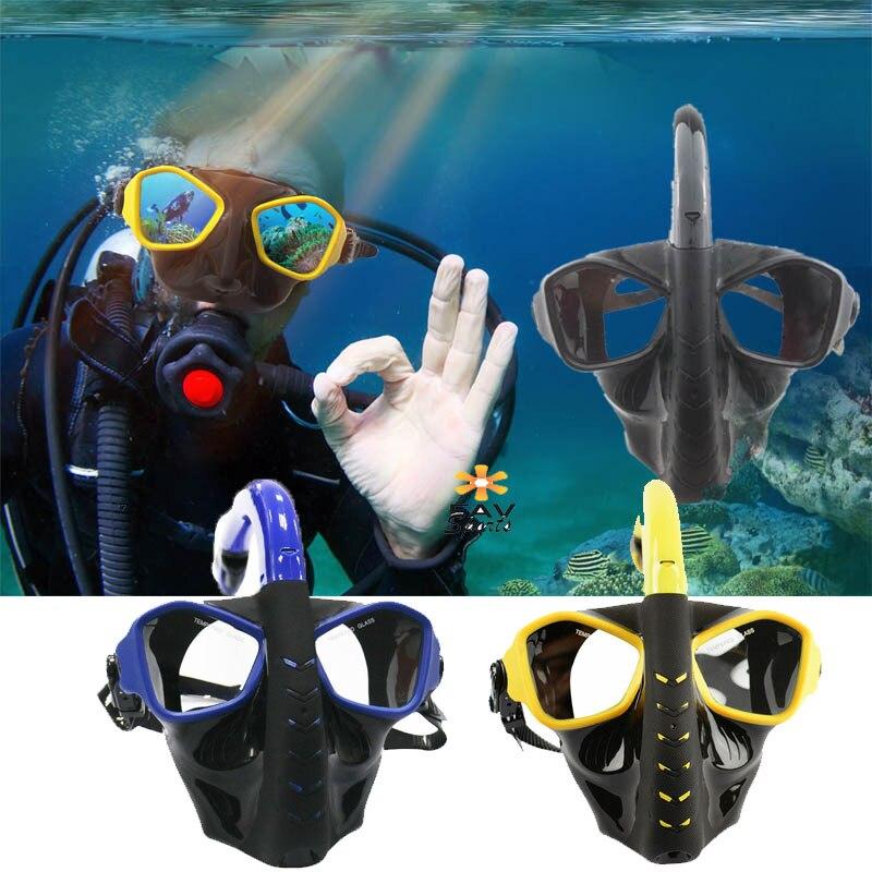 Mascara De Buceo Plein Visage Sous-Marine Plongée Snorkeling Ensemble Anti-brouillard Masque De Plongée Amovible De Natation Plongée pour Gopro Caméra