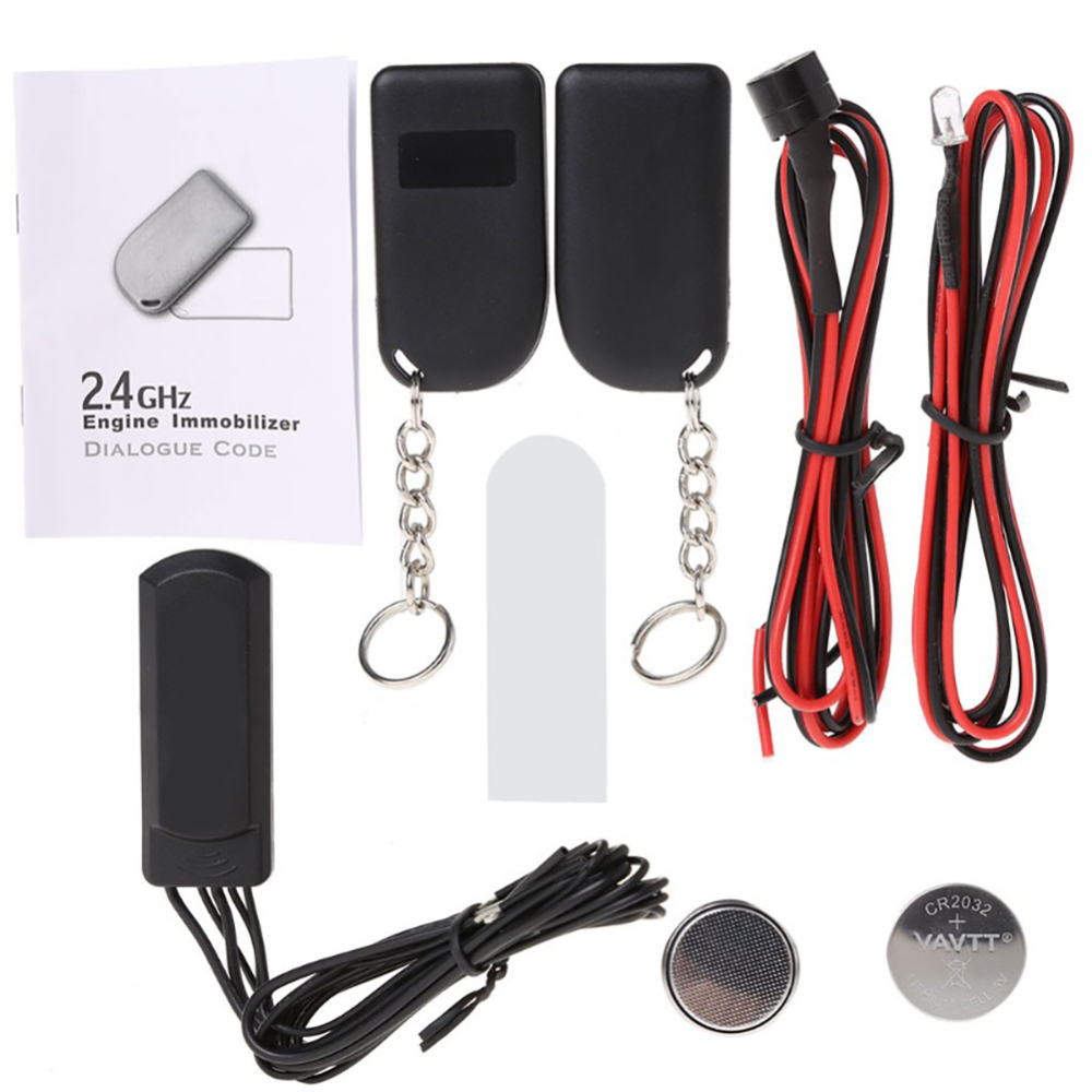 Universal 2.4 GHz Car Alarm Immobilizer Circuit Cut Anti Theft Security English Version Car Immobilizer Bypass RFID Wireless