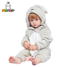 MICHLEY New Baby Hooded Romper Winter and Autumn Flannel Animal Style Boys Cosplay Clothes High Quality Girls Pajamas XYZ-Mouse