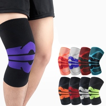 1pc Knee Pad Sleeve Knitted Breathable Compression Support Leg Protector Outdoor Gym Squat Sportswear Unisex