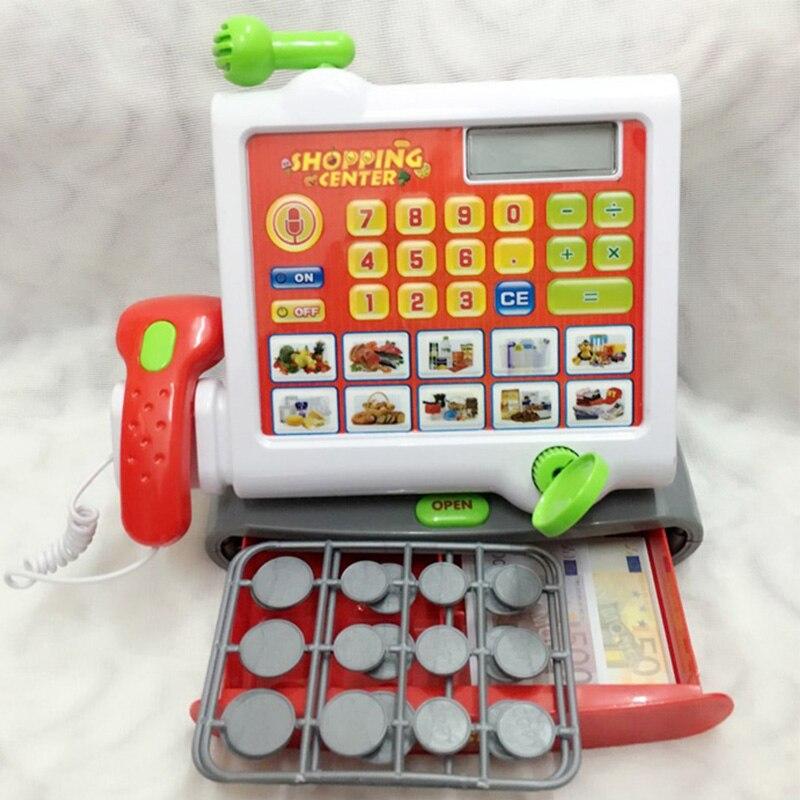 Caisse enregistreuse de supermarché d'enfants semblant jouer des jouets éducatifs pour les enfants en plastique Simulation épicerie Shopping oyuncak