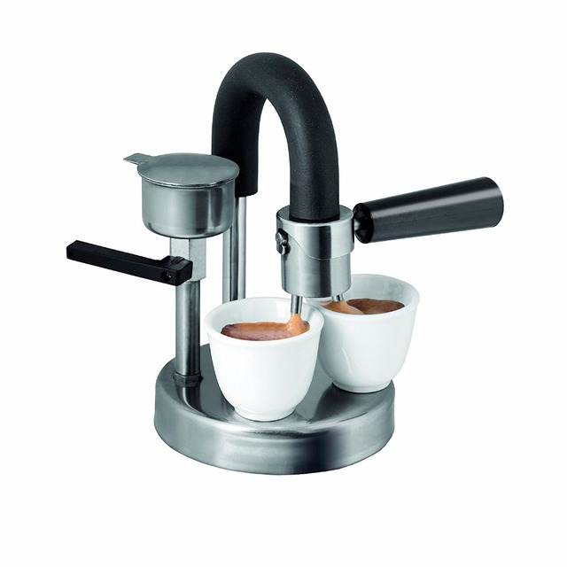 1pc moka pot 1-2cups Stovetop Induction Cooker Espresso Maker Pure handmade stainless steel coffee pot for home office use