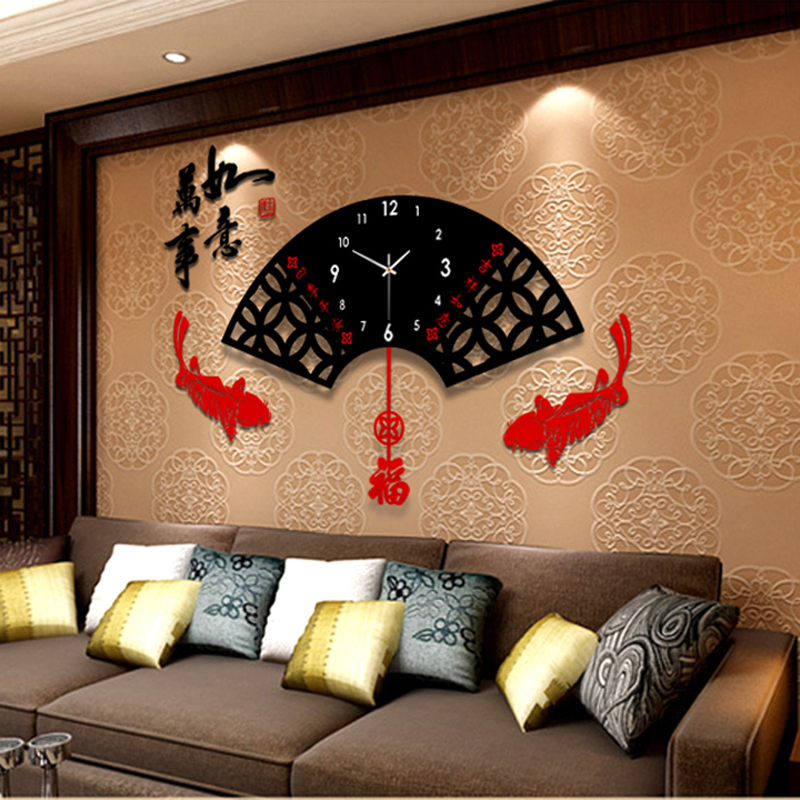 Aliexpress Chinese Modern Creative Living Room Wall Clock Large Style The Fan Shape Fashion Art Mute Quartz Watches From
