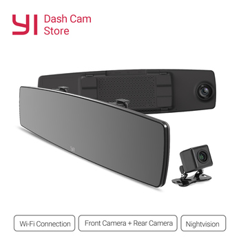 YI Dash Cam Touch Screen Front Rear View HD Auto Video Car DVR Camera Wifi Recorder G Sensor Night Vision Mirror Registrar