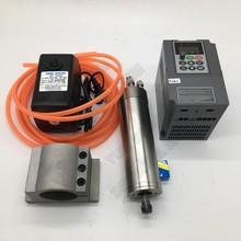 1.2KW 24000 об/мин ER11 62 мм 220 В с водяным охлаждением мотор шпинделя переменного тока 1.5kw VFD+ насос+ Зажим Комплект для ЧПУ маршрутизатор гравировка АБС, ПВХ