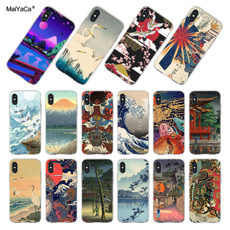 MaiYaCa Japanese style Art Japan Phone Cases for iPhone 11 Pro Max 6S 6plus 7 7plus 8 8Plus X 5 5S  XR XS MAX