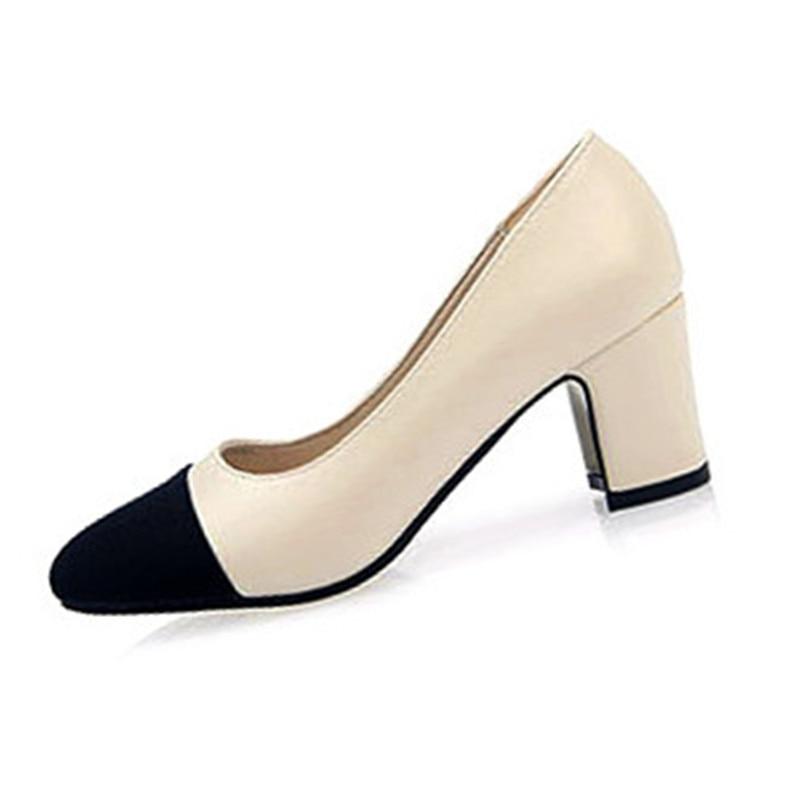 font b Women b font High Heels Shoes Summer Shoes Pumps block 2016 Fashion font