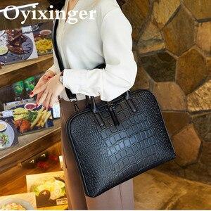 Image 4 - Dames ordinateur sacs à main femmes bureau sac à main filles en cuir sac à bandoulière femme affaires ordinateur portable porte documents pour Lenovo Hp Dell