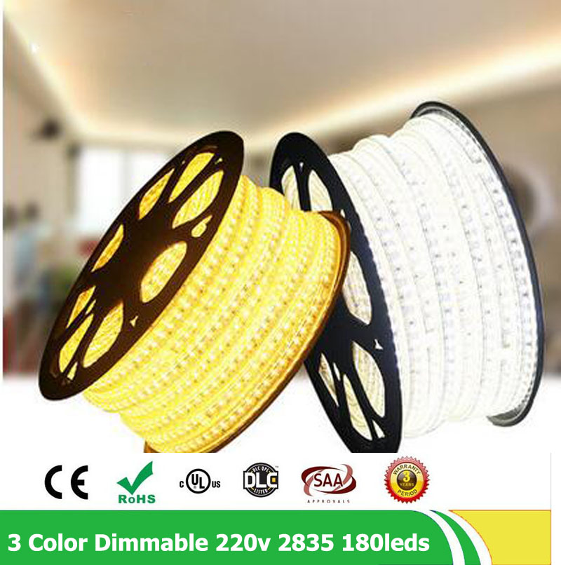 20m / lote 2835 SMD Fila doble 180leds / m 220V - 240V Regulable - Iluminación LED - foto 3