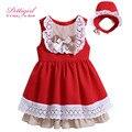 Pettigirl Малыша Девушка Dress с Оголовьем для Девочки Лук Партия Dress Младенческой Летней Одежды Бутик G-DMGD906-797