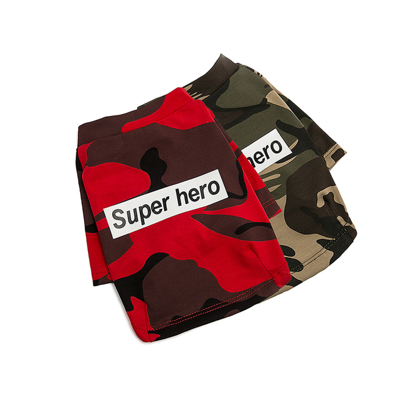 Camouflage Pet Dog Spring Autumn Clothes for Small Dogs Puppy French Bulldog Sweater Yorkie Outfit Chihuahua Tshirt for Cat