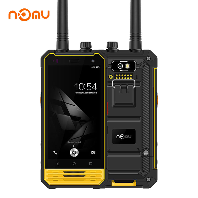Nomu T18 4G LTE Waterproof Phone Shockproof Touch IP68 3G+32G Smartphone Android 7.0 Walkie Talkie OTG Fingerprint Mobile Phone