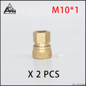 Image 2 - 8 Mm Plug Adapter Fittings Pcp Airsoft Paintball Pneumatische Snelkoppeling Vullen Tepel Man Vrouw 1/8 Bsp 1/8 Npt M10 * 1X2 Pcs