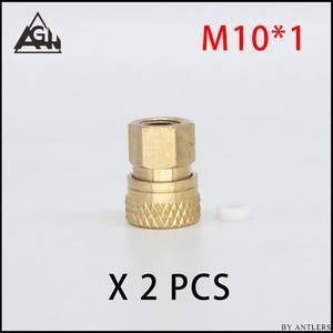 Image 2 - 8MM Stecker Adapter Armaturen PCP Airsoft Paintball Pneumatische Schnelle Koppler Füllung Nippel Männlich weibliche 1/8 BSP 1/8 NPT M10 * 1X2 PCS