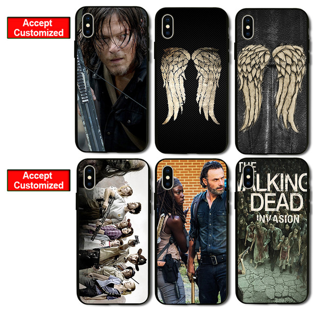 The Walking Dead Mobile Phone Shell Case Cover for Samsung Galaxy Note 2 3  4 5 S2 S3 S4 S5 Mini S6 Edge LG G3 G4 G5 G6-in Half-wrapped Case from