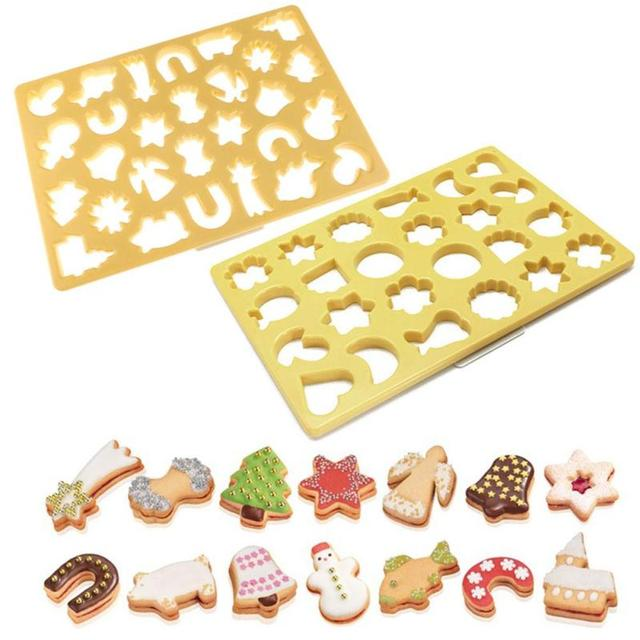 Cookie Cutter Christmas.Us 15 99 Eco Friendly Multi Shape Cookie Cutter Christmas Cake Mold Cartoon Cookie Cutters Stencil Fondant Cutter Biscuit Kitchen S3 In Cookie Tools