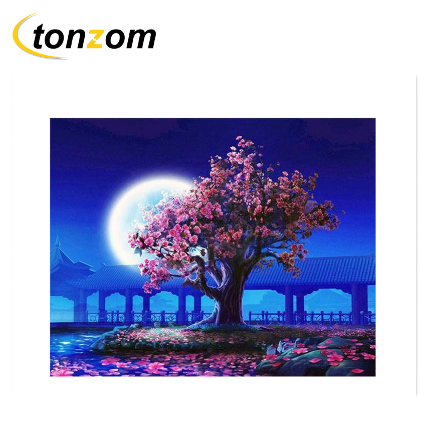 Chenistory Traditional Moonlight City Diy Painting By Numbers Kit Acrylic Colour Other Art Supplies