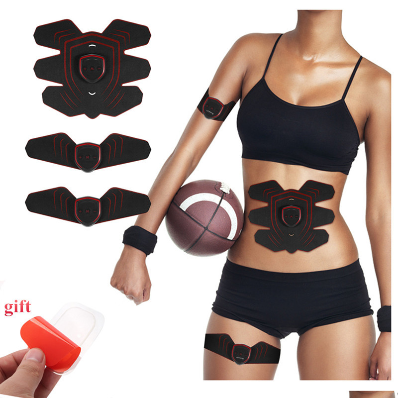 Rechargable Abdominal Trainer Abdomen Arm Thigh Waist Support Fitness Machine Smart Fitness ABS+10pcs Dedicated Gel Pads as gift