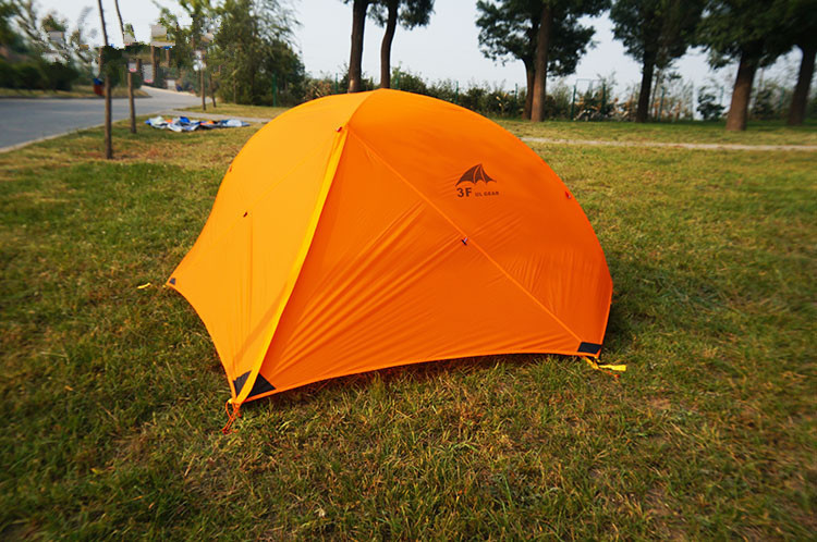3F 3seasons 210T silicone coated single-person tent aluminum Pole anti-rain & wind ultralight tent in high quality mountain tent high quality outdoor 2 person camping tent double layer aluminum rod ultralight tent with snow skirt oneroad windsnow 2 plus