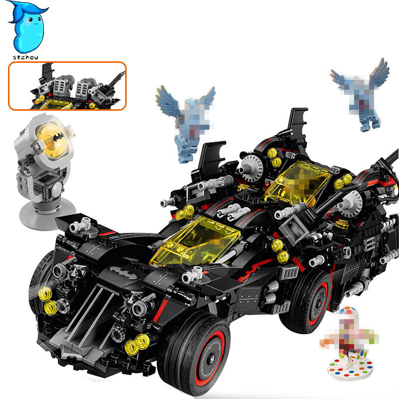 StZhou Mi Ni Wan Dou Lepin Batman 1496Pcs Marvel Super Heroes Genuine Movie The Ultimate Batmobile Building Blocks Bricks Toys