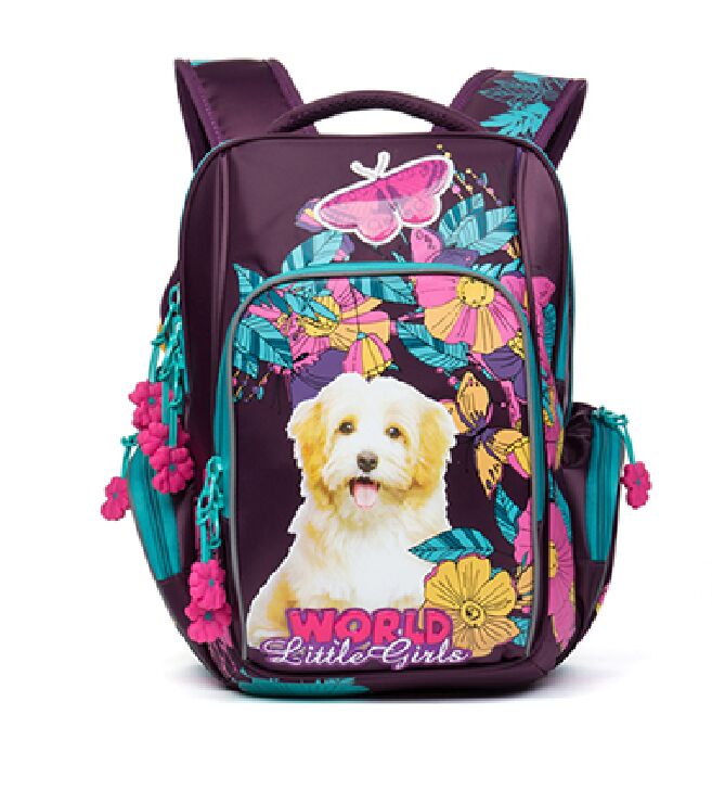 Russia Delune School Bags Children s School Backpacks for Girls Cartoon Dogs Pattern Waterproof Breathable Orthopedic