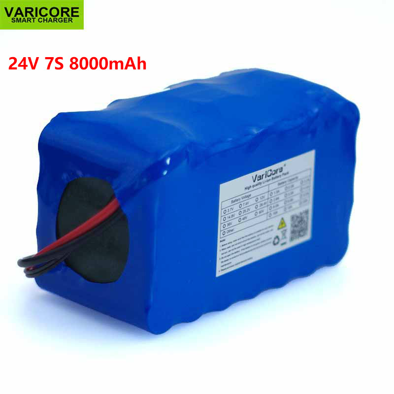 24V 7S4P 8000mAh high power 8AH 18650 Lithium Battery pack with BMS 29.4V for Electric bicycle electric car toy backup power24V 7S4P 8000mAh high power 8AH 18650 Lithium Battery pack with BMS 29.4V for Electric bicycle electric car toy backup power