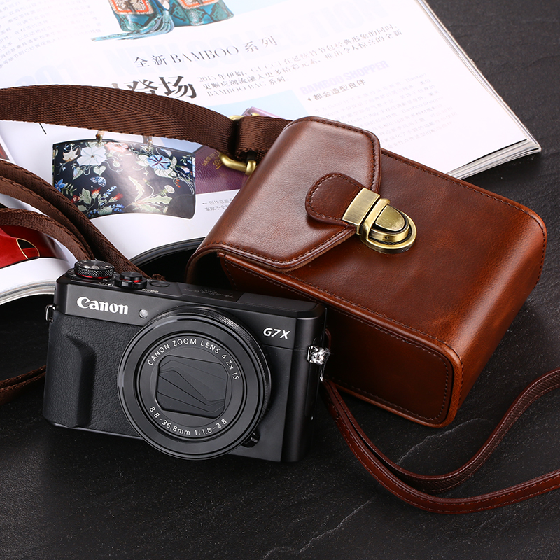 High Quality Pu Digital Camera Bag Leather Case For Canon G7x Mark Ii G9x Sx730 Sx720 Sx710 Sx700 Sx620 Sx610 Sx280 Sx275 Is A95 Be Shrewd In Money Matters Accessories & Parts
