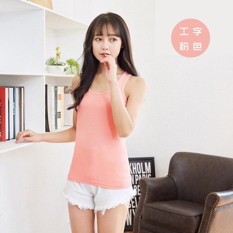 2018 Korean Custom Logo Text Photo Print Women Vest Summer Tops Tanks Sexy Solid Cotton Debardeur Femme Tee Tees Vest Top