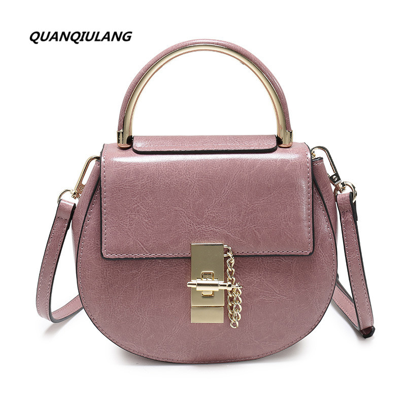 2017 new style Star with a single shoulder bag fashion retro cute piggy leather saddle bag all-match youth diagonal delicate bag new style 0382 star red