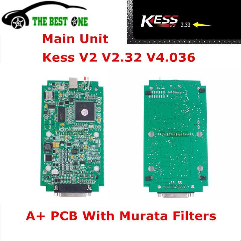 Цена за Новые Основной блок KESS V2 V2.33 V4.036 мастер версия KESS V2 OBD2 менеджер Тюнинг Комплект KESS 4.036 Unlimited маркеры более ЭБУ список