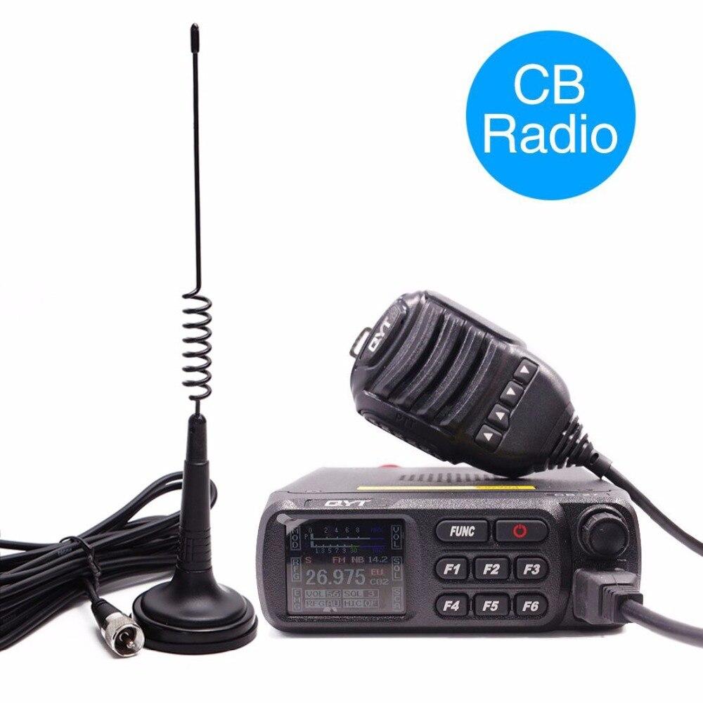 QYT CB-27 CB Radio 26.965-27.405MHz AM/FM 12/24V 4 Watts LCD Screen Shortware Citizen Band Multi-Norms CB Mobile Radio CB27
