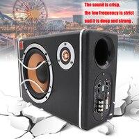 6 дюймов 400 Вт 12 В активной Car Audio сабвуфер Динамик Car Audio сабвуферы стерео Бас Динамик корпусной сабвуфер системы