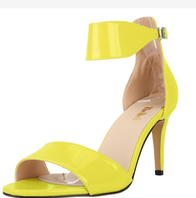Plus yellow dress pumps