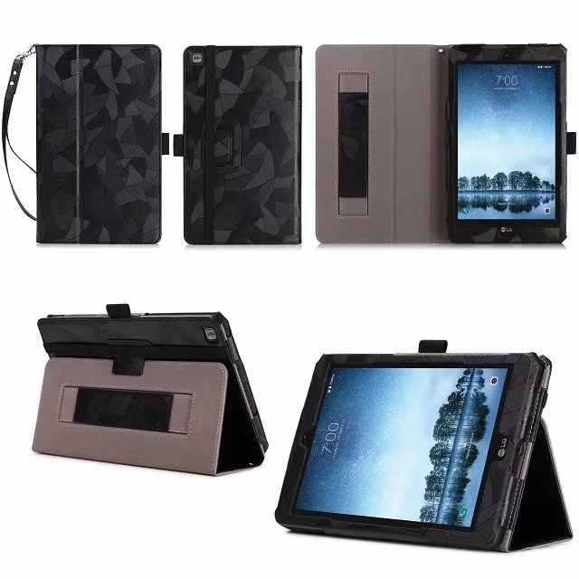 "PU Leather Case Stand Cover voor LG GPad F2 Sprint Model LK460 8 ""/LG G Pad X2 8.0 PLUS V530 Tablet Folio Stand Cover Case + pen"