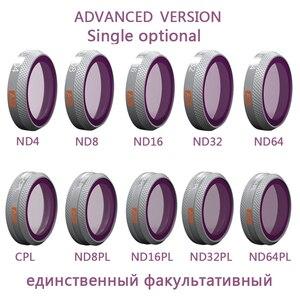Image 1 - PGYTECH אחת אופציונלי מתקדם מסנן עבור DJI Mavic 2 זום CPL ND 4 8 16 32 64 ND ND PL מצלמה עדשת מסננים עבור DJI MAVIC 2