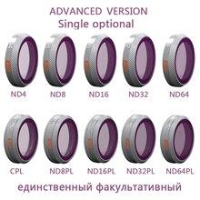 Фильтр PGYTECH для DJI Mavic 2 Zoom, фильтры для объективов камер DJI MAVIC 2 Zoom, CPL, ND 4, 8, 16, 32, 64, ND, для DJI Mavic 2
