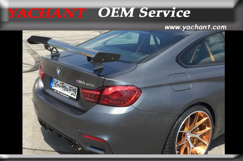 Car-Styling Carbon Fiber Rear Trunk GT <font><b>Spoiler</b></font> Fit For 2014-2017 F82 M4 <font><b>GTS</b></font> Style Rear <font><b>Spoiler</b></font> GT Wing image