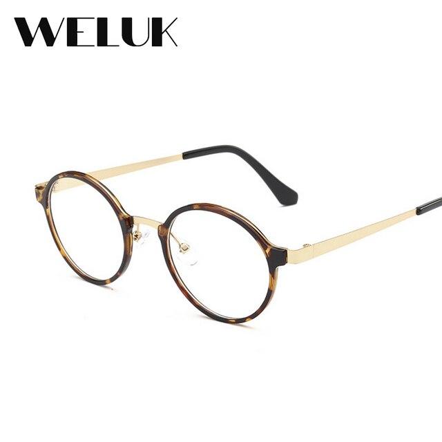 WELUK Round Myopia glasses Clear lens New Fahsioon Super light ...