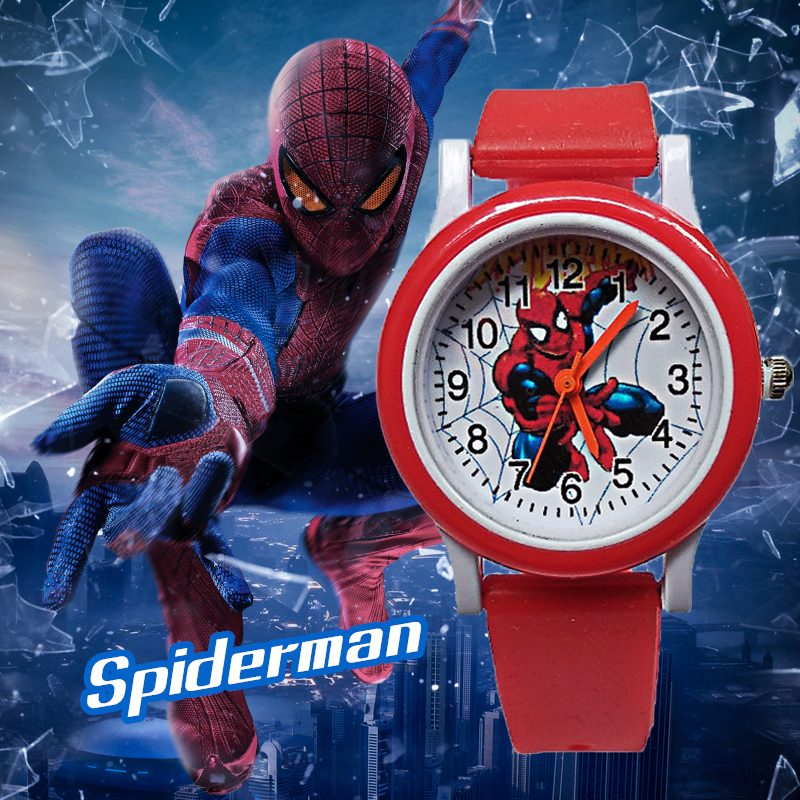 New Exclusive Release Spiderman Children Watches Kids Watch Waterproof Casual Quartz Wristwatches Fashion Child Watch Boys Clock