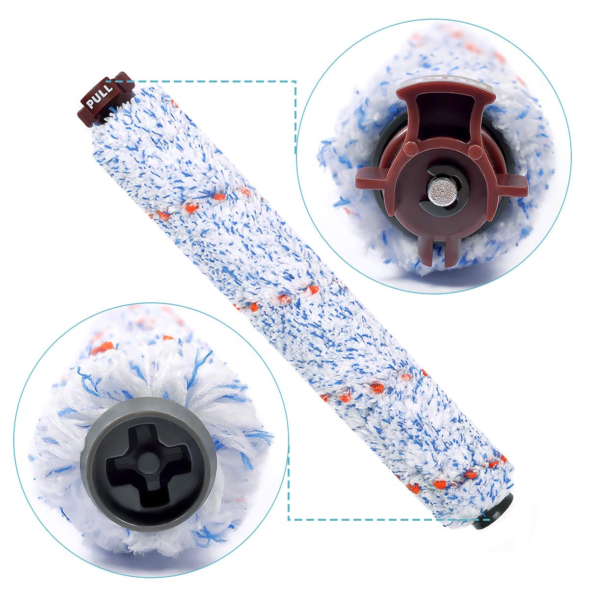Multi Surface Brush Roll Replacement Compatible for Bissell 1868 CrossWave 1785 Series Replaces Part 1608683 160 8683 2 Pack in Vacuum Cleaner Parts from Home Appliances