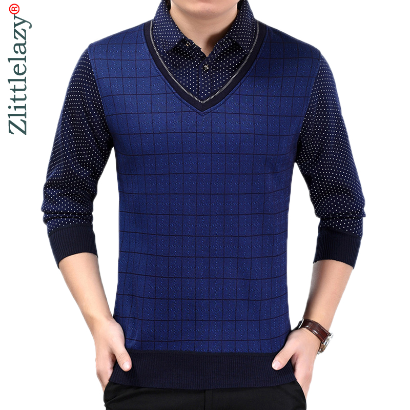 2019 fashion brands fake two pieces long sleeve thick   polo   shirt wear men camisa masculina mens   polos   hombre blouse poloshirt