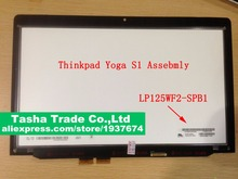 For Thinkpad Yoga S1 LCD Touch Digitizer Screen Assembly LP125WF2-SPB1 SPB1 (SP)(B1) without Frame