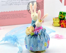 Lovers Rabbit Rotating Ceramic Doll Music Box Gift Home Decor Birthday Graduation Party Wedding Anniversary Lover Girl Women