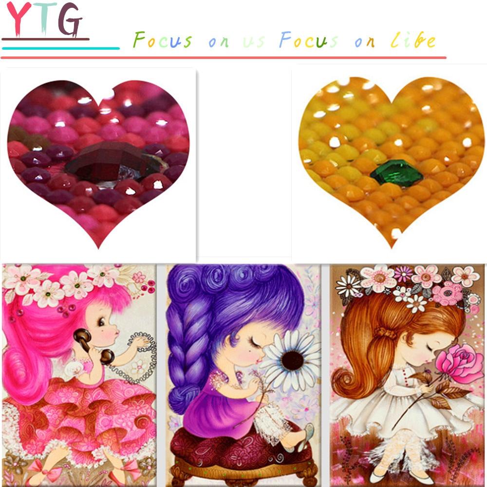 Диамант Кескіндеме, Lovely, Princess, Girl, 5D, - Өнер, қолөнер және тігін - фото 1