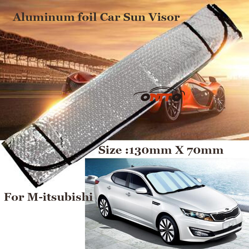 Free shipping 1pcs /lot Aluminum foil Car Sun Visor Auto Visor sunshade For Mitsubishi Lancer 10 9 EX Eclipse Galant outlander ...