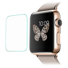 2Pcs 38mm Smart Watch Screen for Apple Watch Protector Tempered Glass 9H Hardness Dust-free Fingerprint-free