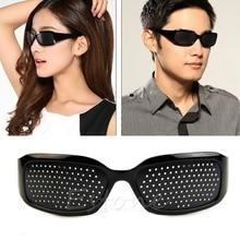J34 Free Shipping Stenopeic Glasses Vision Anti-fatigue Eyesight Care Improver Pin Pinhole Glasses